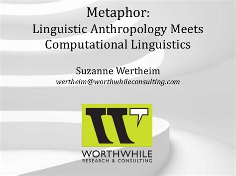 Linguistic Anthropology Essay Topics by Suzanne Wertheim Linguistic Anthropology Meets Nlp