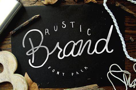 rustic brand  font pack script fonts  creative market