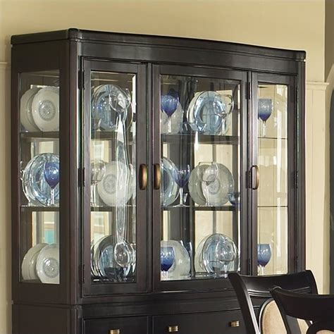 Hutch Display Cabinet by Somerton Dwelling Signature Display Hutch Mocha China