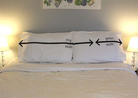 on your side of the bed quot my side your side quot pillow cases are astute social