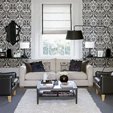 Living Room Wallpaper Ideas Monochrome Mondays Stripe Not Strike Room Envy