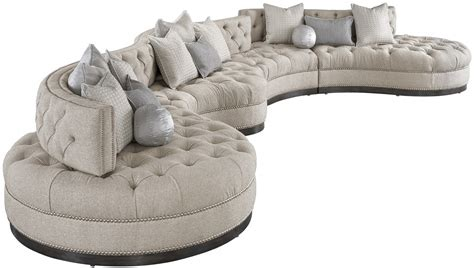 dove grey leather sofa oversized dove grey sectional with curved lines tufted