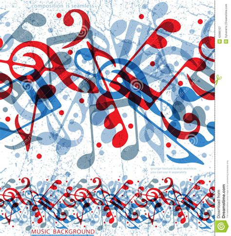 vector pattern with music notes seamless musical notes pattern stock vector image 42986107