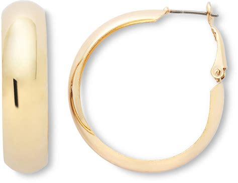 jcpenney sensitive ears gold tone wide hoop earrings