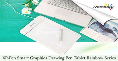 Pc Drawing Tablet Xp Pen Smart Graphics Rainbow Series Cv 720 gadget murah