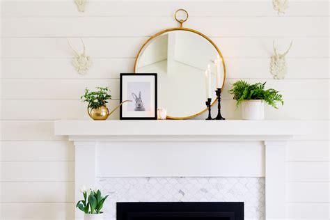 simple mantel decor  spring modern glam interiors