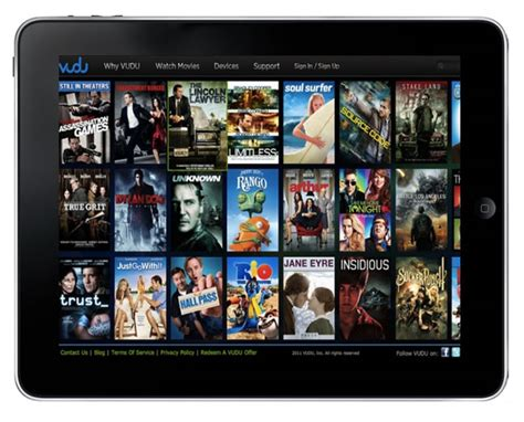 film streaming for ipad vudu begins streaming movies to ipads via web apps