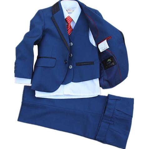 Superbaby Shirt Pantsblue baby clothes small suit boy flower dress suit blue fashionable formal