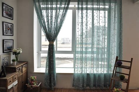 what does light filtering curtain country white leaf floral embroidered blue sheer voile