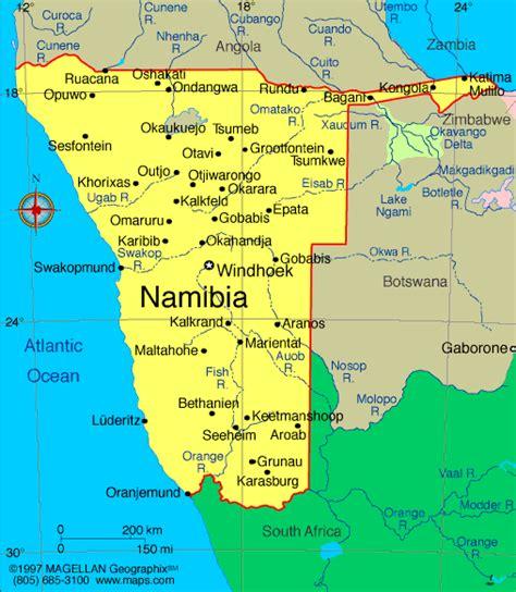 namibia map atlas namibia