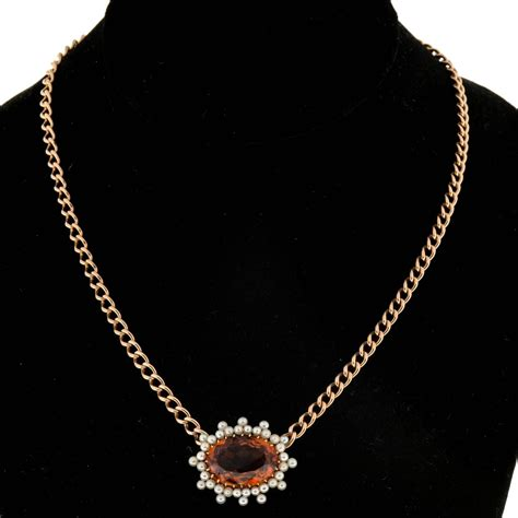 13 Most Stylish Pearl Necklaces For This Winter by Citrine Pearl Gold Pendant Necklace For Sale At 1stdibs