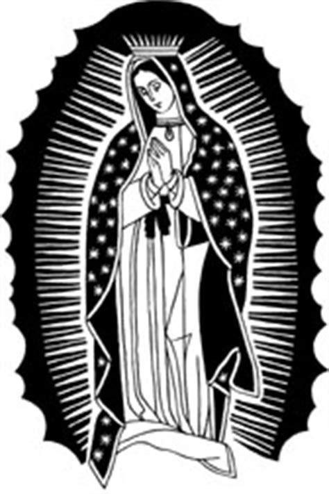 black and white drawings of our lady of guad pictures to