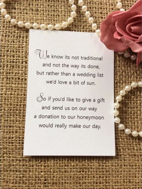How To Ask For Gift Cards For Wedding
