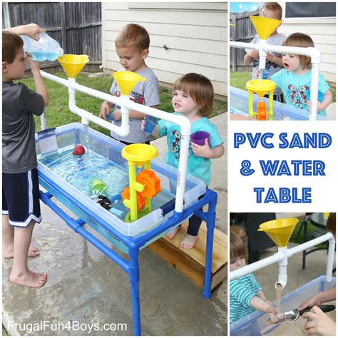 Sand Water Table by How To Build A Pvc Pipe Sand And Water Table Frugal