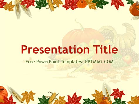 Thanksgiving Powerpoint Templates Free Thanksgiving Powerpoint Template Pptmag