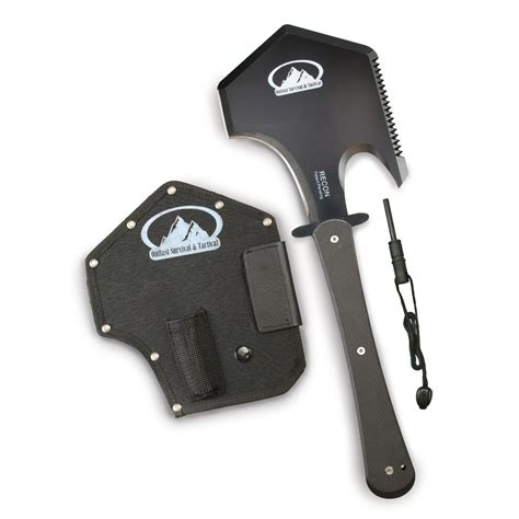 survival multi tool with firestarter recon tactical axe survival tool the home security