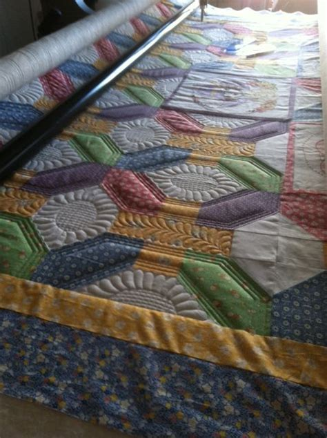 longarm quilted lots of ruler work on this 30 s repo