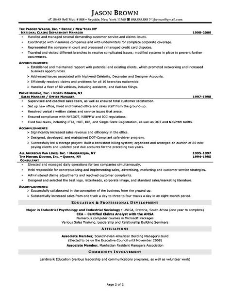 senior sales executive resume format for senior sales executive free sles