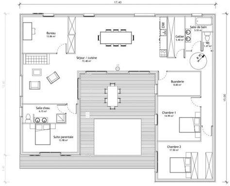 Patio De Maison by Maison En U Avec Patio Plans Maisons Plan