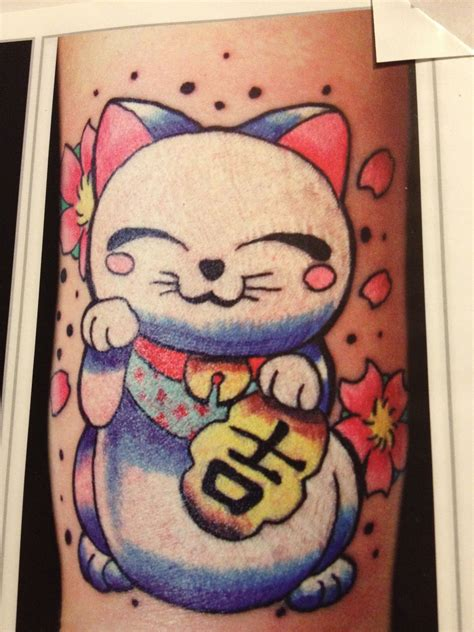 lucky cat tattoo lucky cat tattoos are for sailors