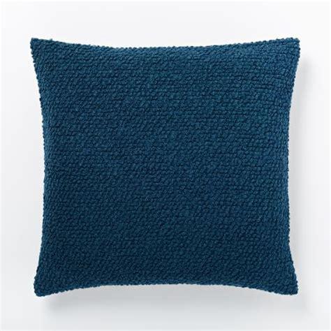 Cozy Pillows Cozy Boucle Pillow Cover Blue Lagoon West Elm