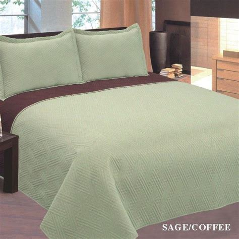 Solid Color Size Quilts Reversible 2 Colors 3 Pcs Solid Bedspread Quilt Set King