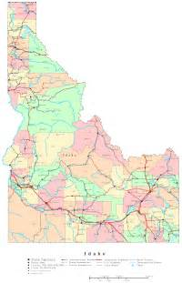 map of idaho idaho printable map