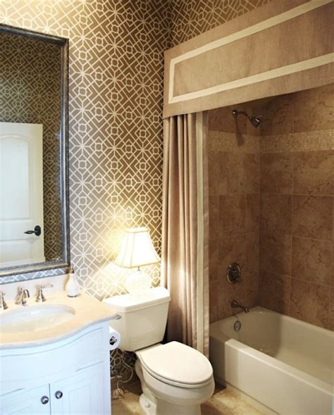 bathroom with shower curtains ideas making your bathroom look larger with shower curtain ideas