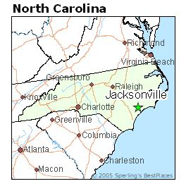map of jacksonville carolina best places to live in jacksonville carolina