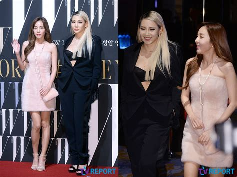 Arum Top In Black Dara cl and dara represent 2ne1 at quot w korea quot charity event