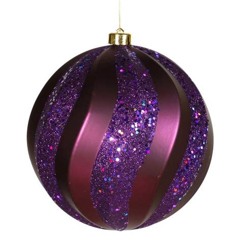 plum colored christmas balls vickerman 23629 purple colored tree ornament
