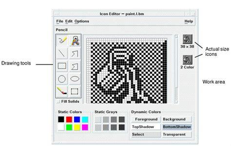 drawing editor chapter 15 using icon editor solaris common desktop