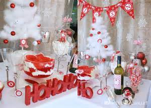 red and white christmas party kara s party ideas