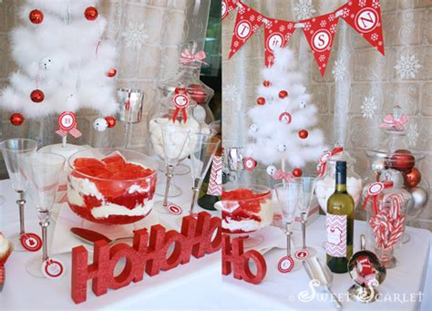 themes christmas party red and white christmas party kara s party ideas