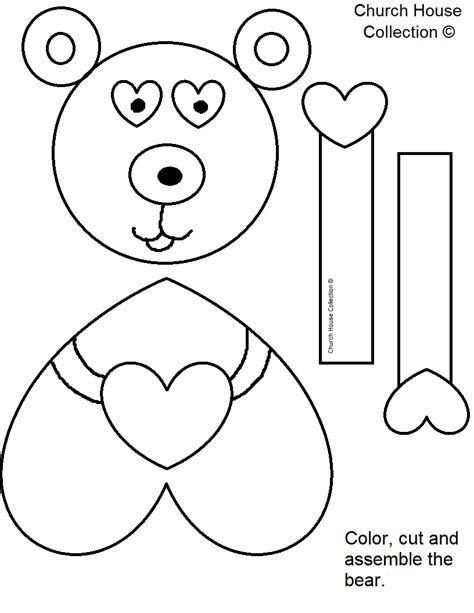 craft templates free church house collection quot jesus me beary much