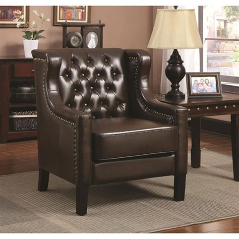 brown leather accent chair a sofa furniture outlet