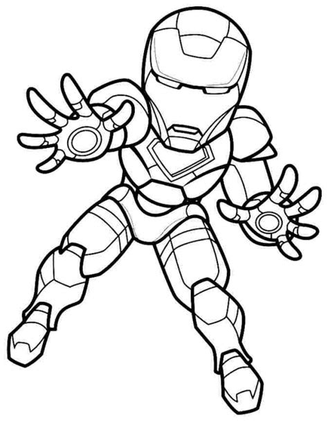 chibi superheroes coloring pages mini super hero squad iron man coloring page colouring