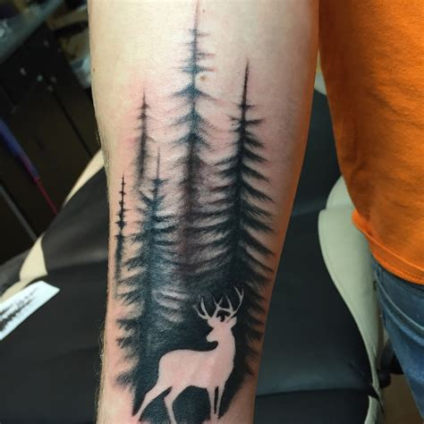 treeline tattoo tattoos deer nature brandi s and tattoos