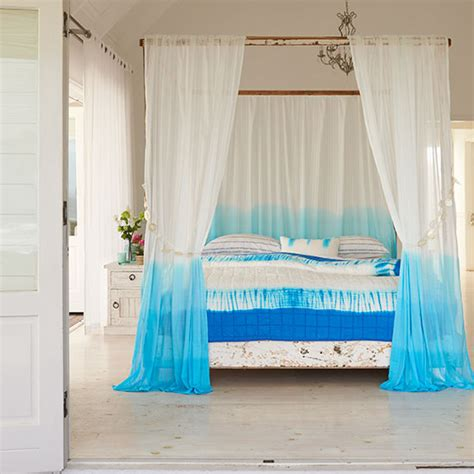 full turquoise bedroom decorating theme and curtain ideas how to dip dye curtains craft ideal home