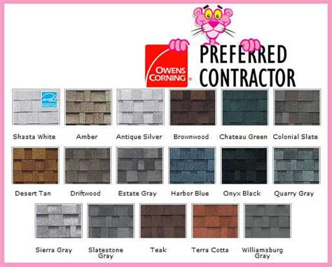 owens corning oakridge roof colors roof shingle types iko gaf certainteed