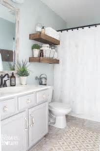Cheap Bathroom Makeover Ideas Budget Bathroom Makeovers Before And After The Budget Decorator