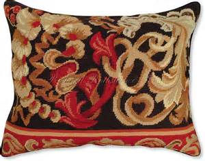 italian floral iii needlepoint pillow floral pillows