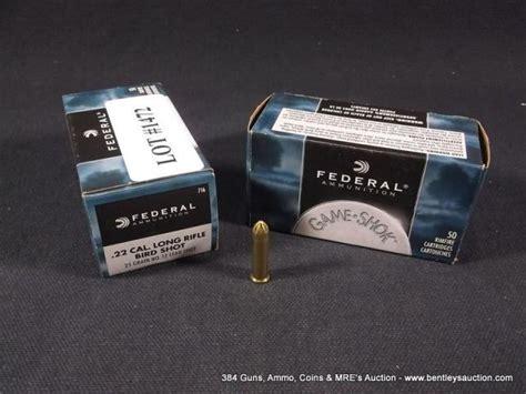 federal 22 long rifle ammo bird shot 1472 federal 22 cal long rifle bird shot 25 grain 12