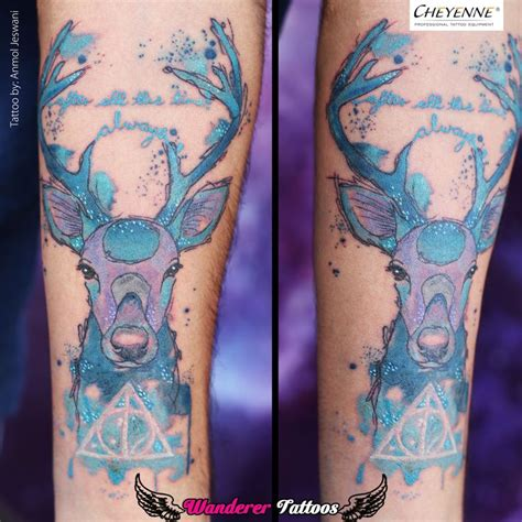 watercolor tattoo after time best 25 always harry potter ideas on