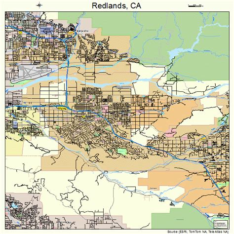 california map redlands redlands california map 0659962