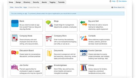 helpful tips for building intranet applications