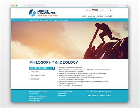 design management website case studies corporate web design stocker management
