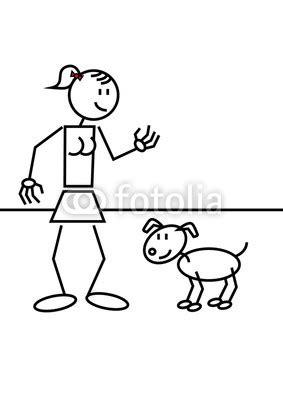 Aufkleber Von Glatter Oberfläche Entfernen by Aufkleber Strichm 228 Nnchen Hund Frau Katze Hund