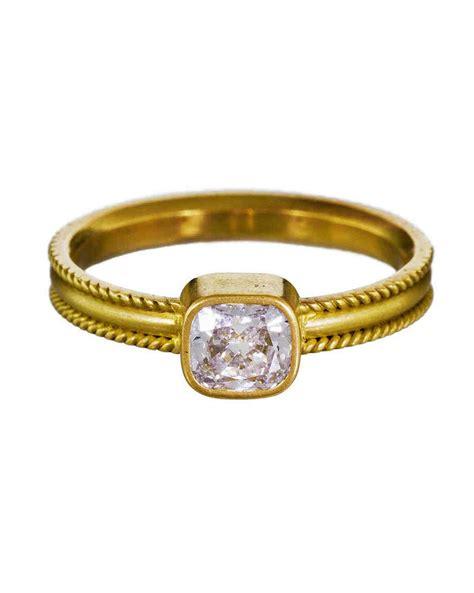 Cushion Engagement Rings by Cushion Cut Engagement Rings Martha Stewart Weddings