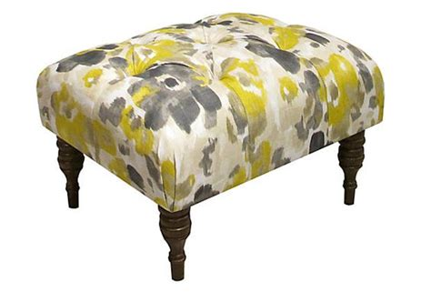 yellow and gray ottoman boyd tufted ottoman yellow gray ottomans fabrics and
